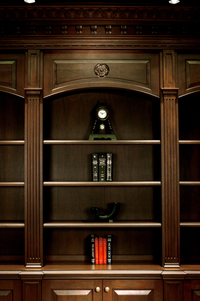 Luxury Library Details from Arbor Mills Custom Cabinetry