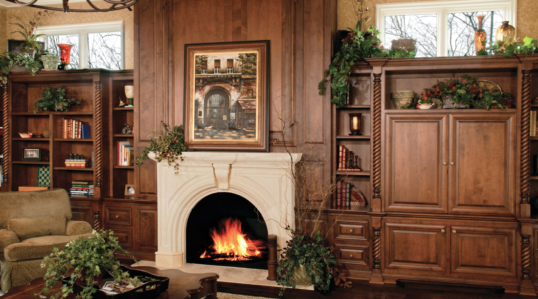 Custom Family Room Cabinets by Arbor Mills