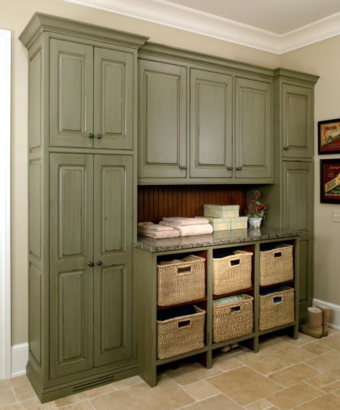 Custom mudroom cabinets by Arbor Mills