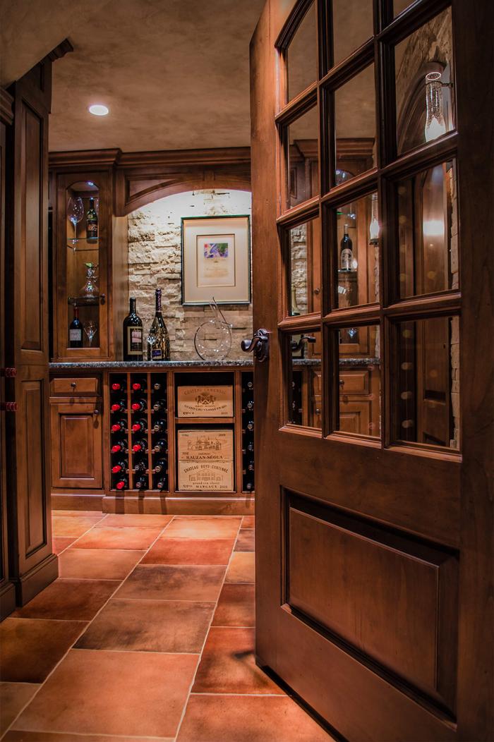 Arbor Mills Unique Wine Cellar Design