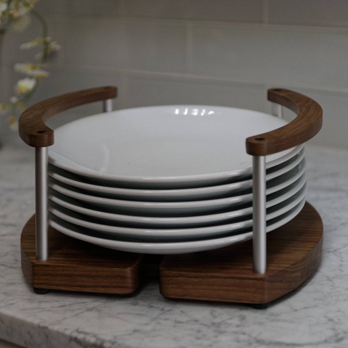 BIN by Arbor Mills Plate Holder from drawer to table