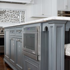 Arbor Mills Gray Painted Kitchen Island
