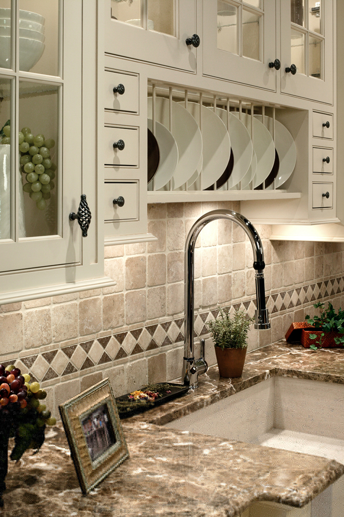 Arbor Mills Country Kitchen With Marble Countertops