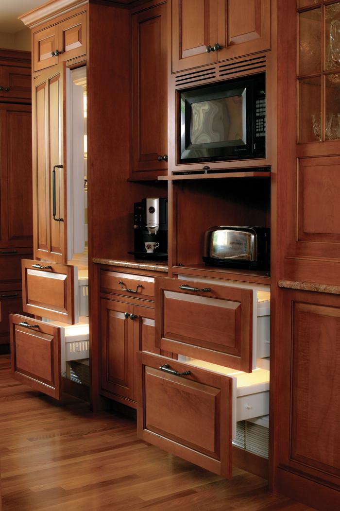 Hidden Appliances with Custom Panels by Arbor Mills