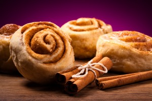 Cinnamon rolls make the house smell delicious!